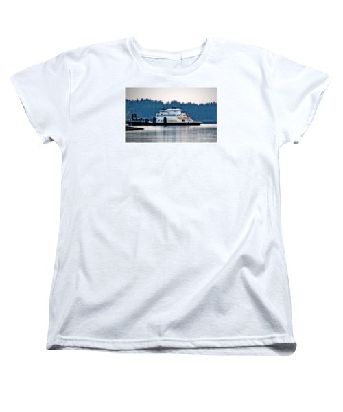 Steilacoom Ferry At Dusk Women's T-Shirt (Standard Cut) by Chris Anderson