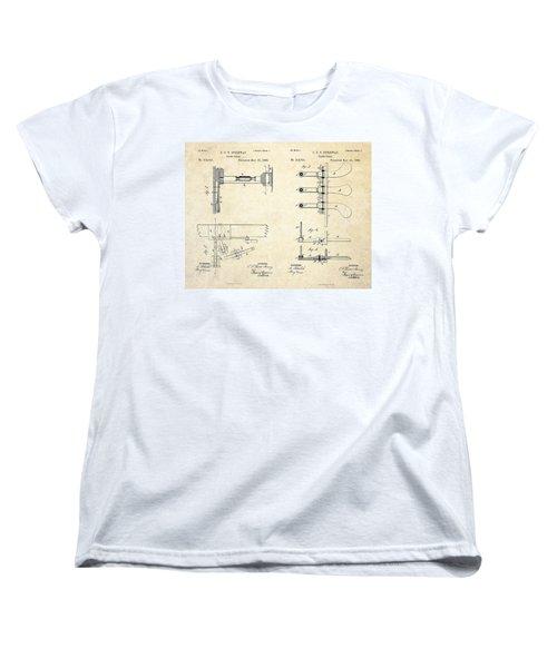 1885 Steinway Piano Pedal Patent Art Women's T-Shirt (Standard Cut)