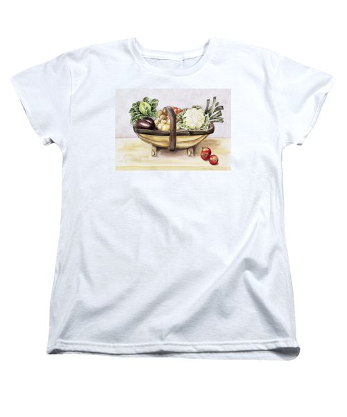 Still Life With A Trug Of Vegetables Women's T-Shirt (Standard Cut) by Alison Cooper