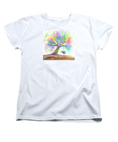 Still More Rainbow Tree Dreams Women's T-Shirt (Standard Cut)