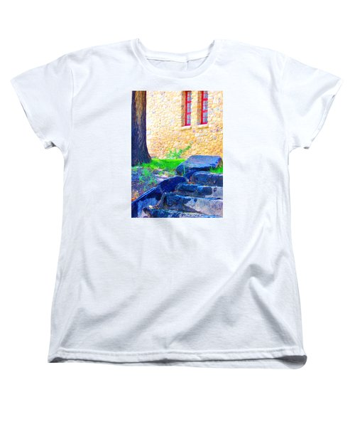 Women's T-Shirt (Standard Cut) featuring the photograph Stone Steps by Marilyn Diaz