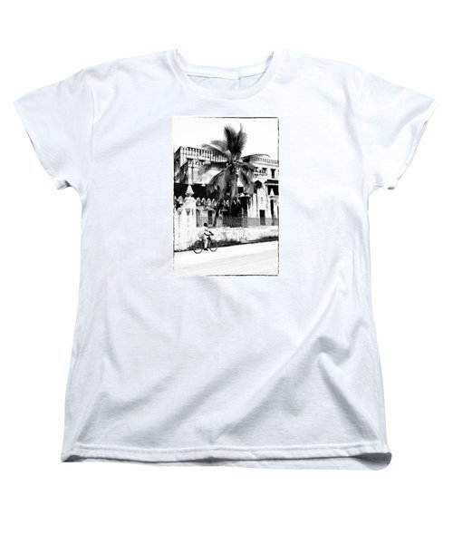 Women's T-Shirt (Standard Cut) featuring the photograph Tanzania Stone Town Unguja Historic Architecture - Africa Snap Shots Photo Art by Amyn Nasser