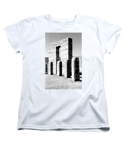 Women's T-Shirt (Standard Cut) featuring the photograph Stonehenge Replica by Chalet Roome-Rigdon