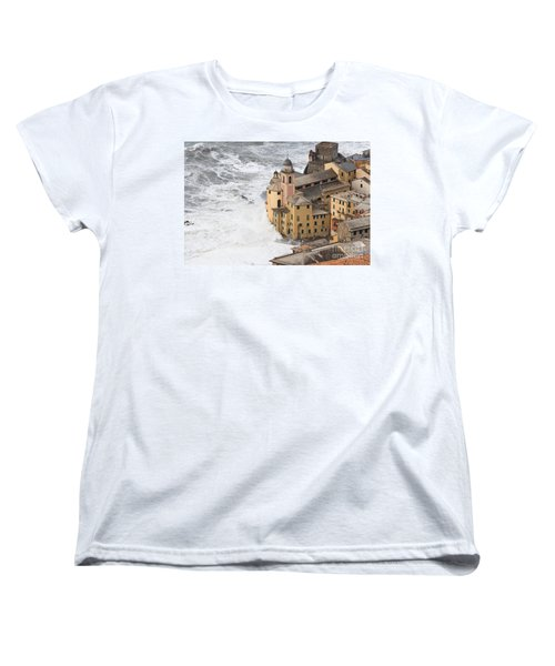 Storm In Camogli Women's T-Shirt (Standard Cut) by Antonio Scarpi