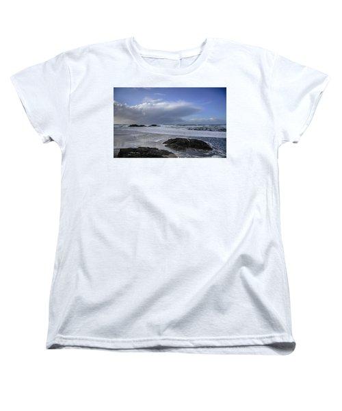 Storm Rolling In Wickaninnish Beach Women's T-Shirt (Standard Cut) by Roxy Hurtubise