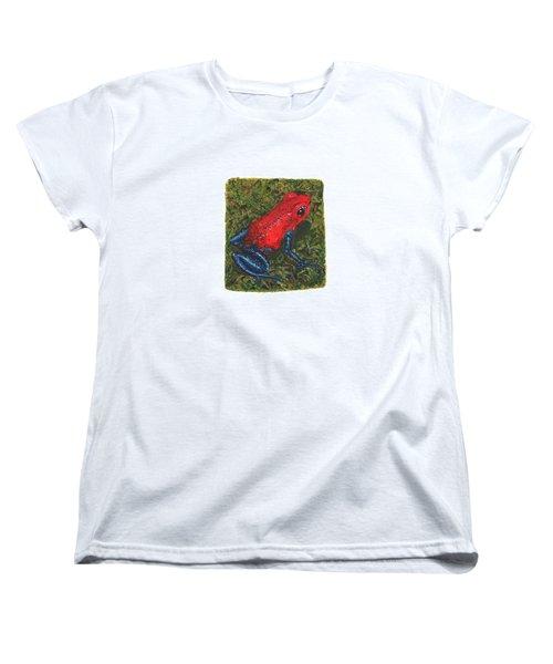 Strawberry Poison Dart Frog Women's T-Shirt (Standard Cut) by Cindy Hitchcock