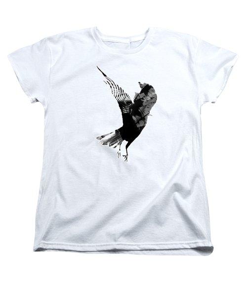 Street Crow Women's T-Shirt (Standard Cut) by Jerry Cordeiro