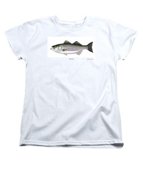 Striped Bass Women's T-Shirt (Standard Cut) by Charles Harden