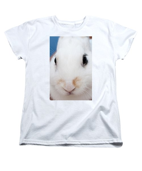 sugar the easter bunny 1 -A curious and cute white rabbit close up Women's T-Shirt (Standard Cut)