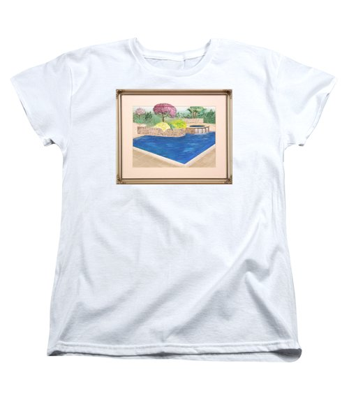 Women's T-Shirt (Standard Cut) featuring the painting Summer Days by Ron Davidson