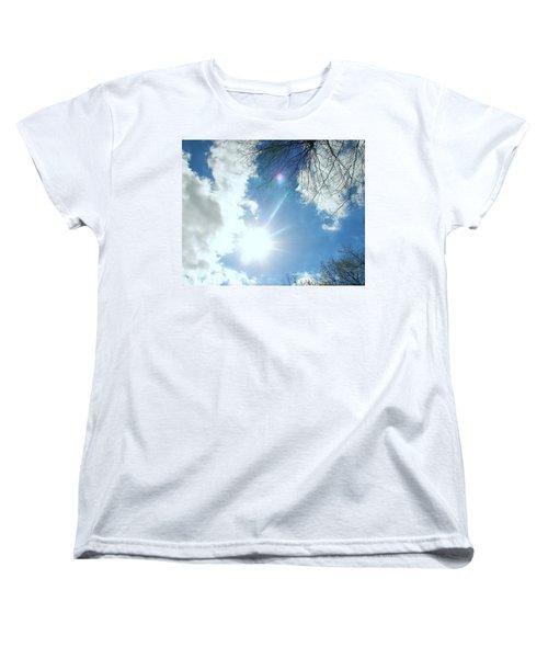 Women's T-Shirt (Standard Cut) featuring the photograph Sun Burst by Pamela Hyde Wilson