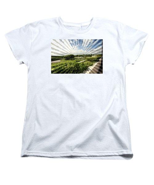 Sun Rays Women's T-Shirt (Standard Cut) by Mustafa Abdullah