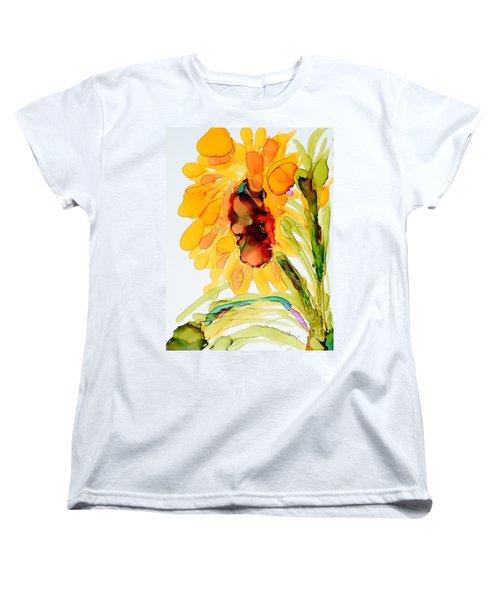 Sunflower Left Face Women's T-Shirt (Standard Cut) by Vicki  Housel