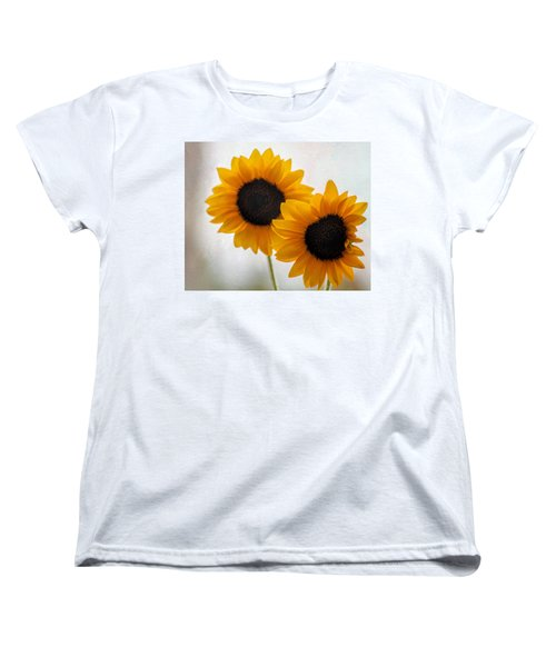 Sunny Flower On A Rainy Day Women's T-Shirt (Standard Cut) by Tammy Espino