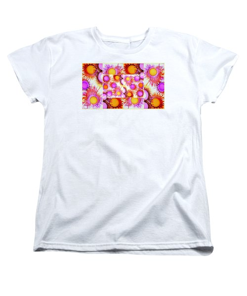 Sunny Happy Abstract Alcohol Inks Collage Women's T-Shirt (Standard Cut)