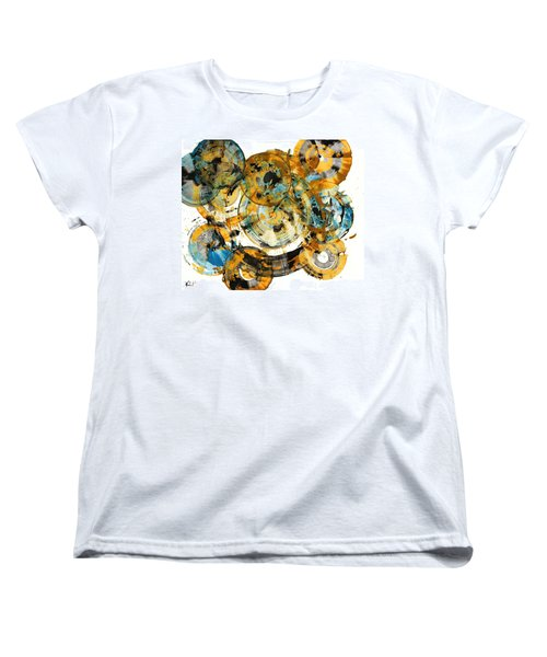 Women's T-Shirt (Standard Cut) featuring the painting Sunrise - 991.042212 by Kris Haas