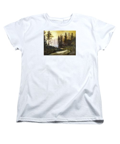 Sunrise In The Forest Women's T-Shirt (Standard Cut) by Lee Piper