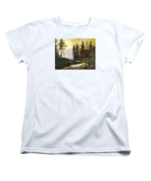 Sunrise In The Forest Women's T-Shirt (Standard Cut)
