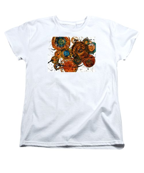 Women's T-Shirt (Standard Cut) featuring the painting Sunset - 1274.121412 by Kris Haas