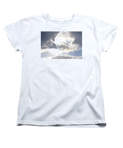 Women's T-Shirt (Standard Cut) featuring the photograph Sunshine Through The Clouds by Tara Potts