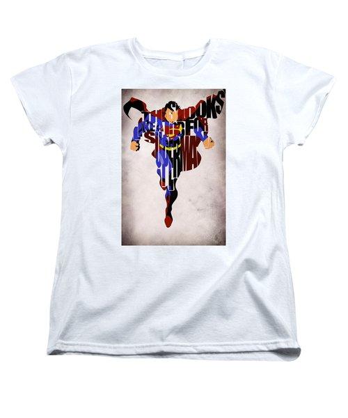 Superman - Man Of Steel Women's T-Shirt (Standard Cut) by Ayse Deniz