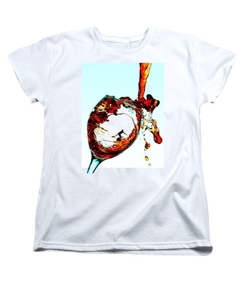 Surfing In A Cup Of Wine Little People On Food Women's T-Shirt (Standard Cut) by Paul Ge