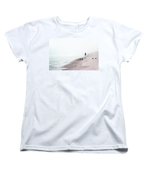 Surfing Where The Ocean Meets The Sky Women's T-Shirt (Standard Cut) by Brooke T Ryan