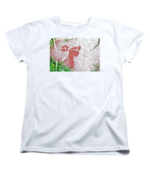 Women's T-Shirt (Standard Cut) featuring the photograph Sweet Steps by Charlotte Schafer