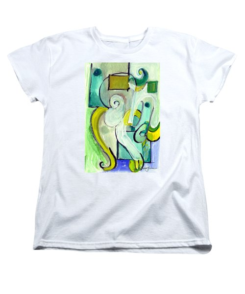 Women's T-Shirt (Standard Cut) featuring the painting Symphony In Green by Stephen Lucas