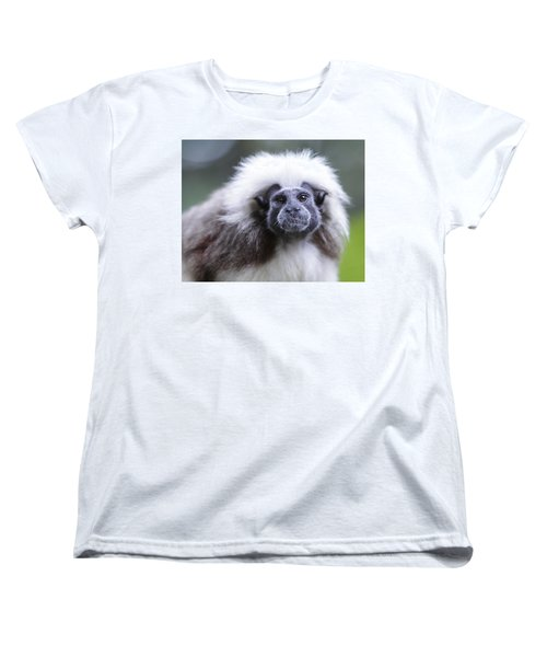 Women's T-Shirt (Standard Cut) featuring the photograph Tamarins Face by Shoal Hollingsworth