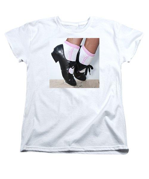 Tap Dance Shoes From Dance Academy - Tap Point Tap Women's T-Shirt (Standard Cut)