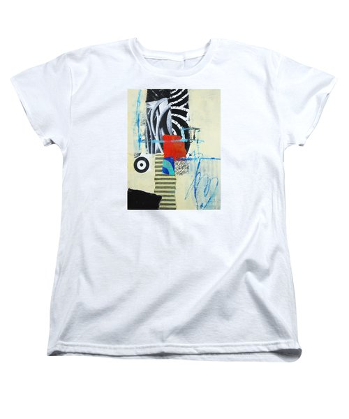 Women's T-Shirt (Standard Cut) featuring the mixed media Target by Elena Nosyreva