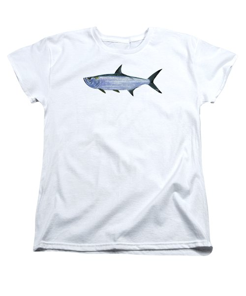 Tarpon Women's T-Shirt (Standard Cut) by Carey Chen