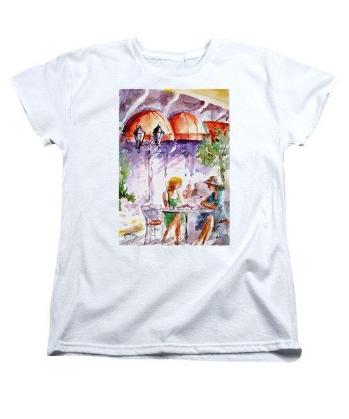 Women's T-Shirt (Standard Cut) featuring the painting Tea Time...  by Faruk Koksal
