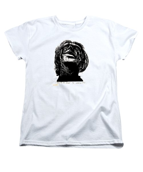 Women's T-Shirt (Standard Cut) featuring the relief Tears For Her Dead by Seth Weaver