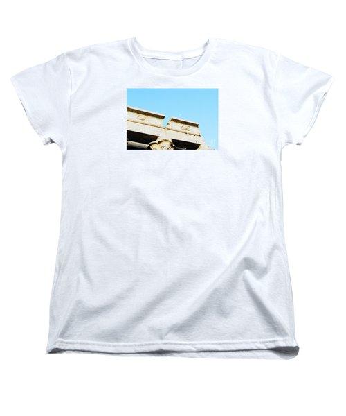Women's T-Shirt (Standard Cut) featuring the photograph Temple At Luxor by Cassandra Buckley