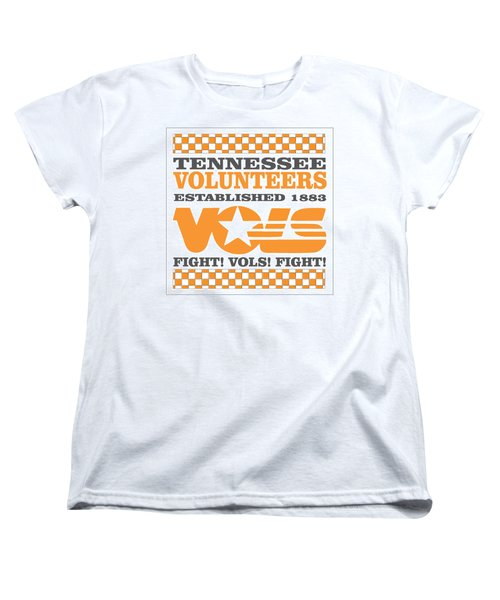 Tennessee Volunteers Fight Women's T-Shirt (Standard Cut) by Debbie Karnes