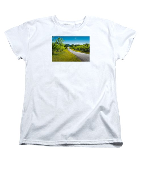 Women's T-Shirt (Standard Cut) featuring the photograph Texas Hill Country Road by Darryl Dalton