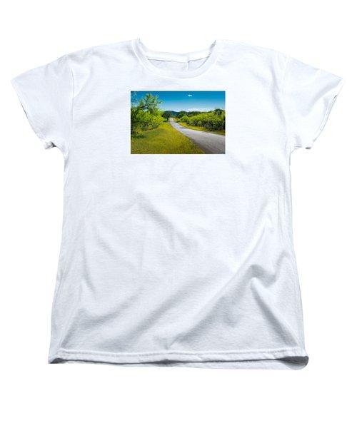 Texas Hill Country Road Women's T-Shirt (Standard Cut) by Darryl Dalton