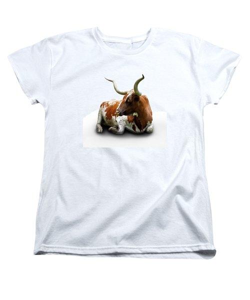 Texas Longhorn Bull Women's T-Shirt (Standard Cut) by Charles Beeler