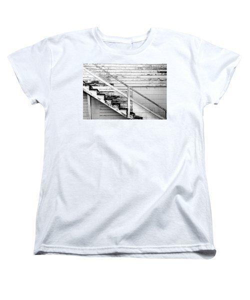 The Back Stairs Women's T-Shirt (Standard Cut) by Beverly Stapleton
