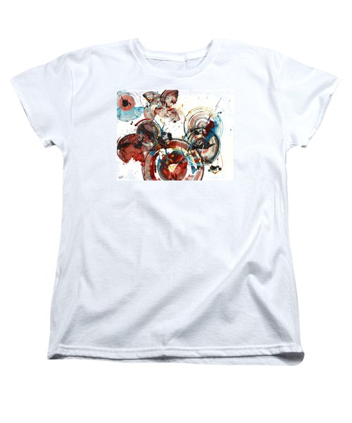 Women's T-Shirt (Standard Cut) featuring the painting The Big Bang by Kris Haas