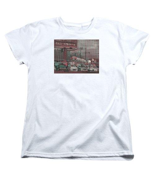 Women's T-Shirt (Standard Cut) featuring the painting The Boneyard by Donald Maier
