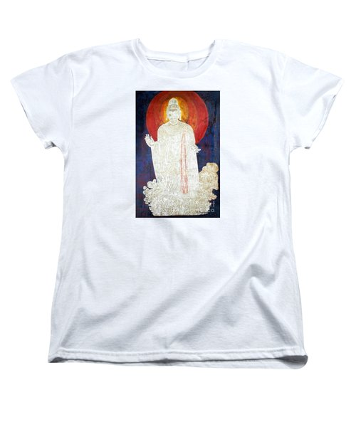 Women's T-Shirt (Standard Cut) featuring the painting The Buddha's Light by Fei A