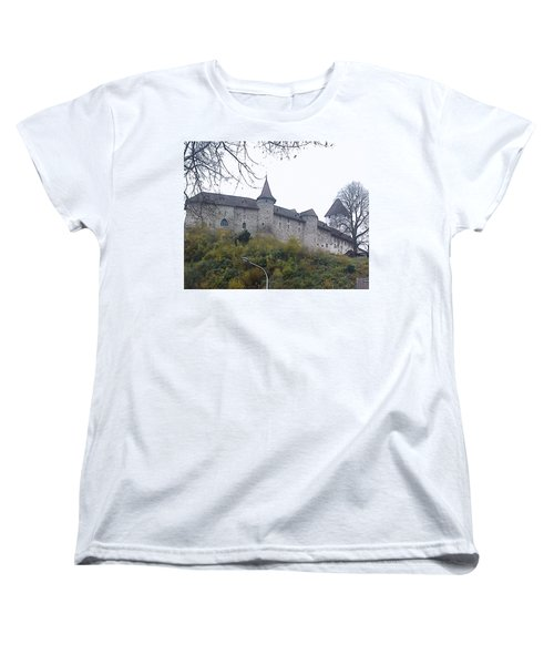Women's T-Shirt (Standard Cut) featuring the photograph The Castle In Autumn by Felicia Tica