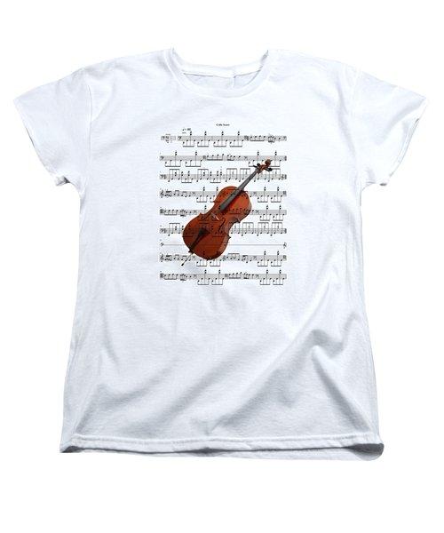 The Cello Women's T-Shirt (Standard Cut) by Ron Davidson