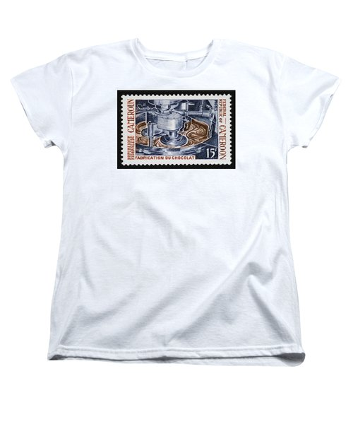 The Chocolate Factory Vintage Postage Stamp Women's T-Shirt (Standard Cut) by Andy Prendy