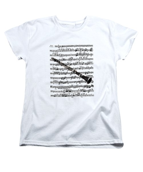 The Clarinet Women's T-Shirt (Standard Cut) by Ron Davidson