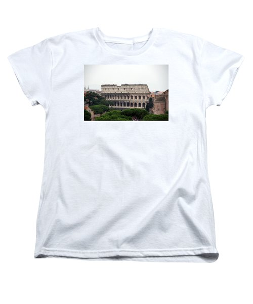 The Coliseum  Women's T-Shirt (Standard Cut) by Debi Demetrion