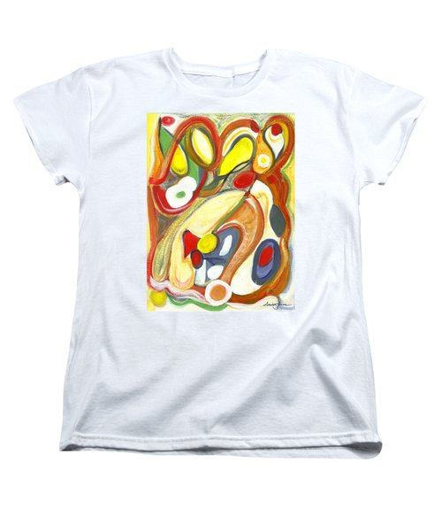 Women's T-Shirt (Standard Cut) featuring the painting The Color Of Love by Stephen Lucas